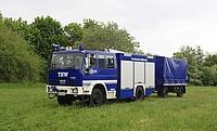 GKW 1 mit Gerüstbau-Anhänger